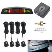 Car Rear View Cameras& Parking Sensors Led Sensor System Reverse Backup Radar Buzzer Warning Alarm Kit Display With 4