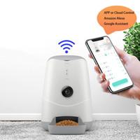 Alimentatore automatico Animali domestici Smart Pet Alimentatore per animali Piccoli animali Distributore di animali domestici Auto con controllo porzione HD Night Vision Camera