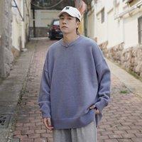 2021 nuovo maglione invernale maschile caldo moda tinta unita casual o-collo a maglia pullover snor allentato coreano maglia maglieria maglioni da uomo vestiti wz92