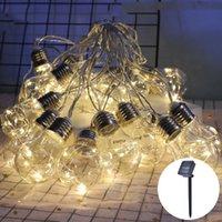 Weihnachtsdekorationen Solar Licht String G50 Birne Kupfer Draht Laterne Garten Hof Dekoration Wasserdichte LED 8 Meter 20 Birnen