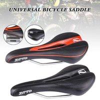 Bike Saddles Universal Bicycle Saddle Ergonomico MTB Road Strada Sedile perforato Schiuma Ammortizzata PU in pelle PU Struttura in acciaio Accessori per ciclo