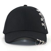 Cappellino da baseball hip hop kpop con anelli irion anelli in cotone regolabili patchwork snapback cappelli da goccia