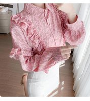 Women's Blouses & Shirts 2021 Spring Style Blusas Feminina Vero Lantern Sleeve Tunique Femme Office Lady 2xl Plus Size Clothing