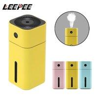 Auto-Lufterfrischer tragbarer Mini-Ultraschall-Quadrat-Luftbefeuchter Aroma ätherischer Öldiffusor USB-Reiniger LED für Büro