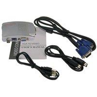 Ses Kabloları Konnektörler VGA BNC Bağlayıcı Sinyal Adaptörü Dönüştürücü Video Anahtarı Kutusu Kompozit Bilgisayar Dizüstü PC PAL TV AV RCA