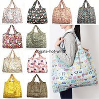 New Waterproof Nylon Foldable Shopping Bags Reusable Storage Bag Eco Friendly Shopping Bags Tote Bags Large Capacity EE