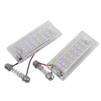 Lampade interiorexterne 2 pz bianco LED Numero targa Lampada luminosa 18 SMD 3528 For- E53 x5 1999-2003 E83 x3 03-10