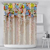 1 шт. Красочный тюльпан роза цветы деревья Душевая занавеска ванная комната шторы природа цветок водонепроницаемый полиейте ткань ванна декор