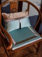 Kudde / dekorativ kudde anpassad spets lyxig kinesisk sittkudde täcker sit kudde uppsättningar matstol fåtölj soffa vanlig silke satin lumbar cas
