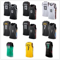Джеймс 13 Хардин Джерси Кевин 7 Дюрант 11 Ирвинг Баскетбол Джерси 2020 2021 Кири Новый город Мужской Баскетбол Майки Горячие Продажи