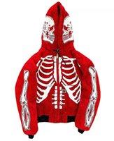 남자 streetwear 높은 거리 재킷 해골 해골 인쇄 까마귀 카디건 대형 캐주얼 스웨터 패션 빈티지 코트 가을 S-4XL