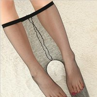 1D Women's Sexy Super Thin Tights Invisible Crotchless Pantyhose Female Nylons Stockings Panty Hose Thigh High Stockings