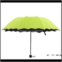 Creative Travel Umbrellas Blossom в воде красочные три сложенные ароки все погода зонтик с Jllnac Xmhyard