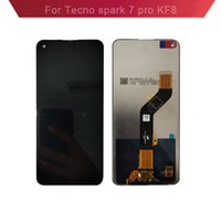 For Tecno spark 7 pro kf8 LCD Display Touch Panels Complete Cell Phone with Screen Assembly Digitizer Replacement