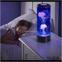 Светодиодный ночной свет Гипноти медузы Aquarium семь цветных светодиодов океан фонарь фонарь украшения лампы для детской комнаты дети подарок Deost Soveyf