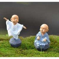 Kung Fu Cartoon Monk Figurine Fiasta Giardino Giardino Miniature Ornamenti Decorazione Terrario Moss Micro Paesaggio R Jllouq WarmSlove