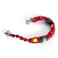 Fashion Metal Pipe Creative Beaded Bracelet Cigarette Holder Household Smoking Accessories 28CM DWA7845