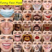 2021 Yeni Yapay Yüz Serin Komik Yetişkinler Bir Maske Giymemeye Sahip Oldu Facemask Pamuk Maskeleri Sahte Gerçekçi Özel Zor