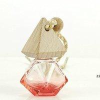 Auto Diffusor Flasche Parfüm Cube Anhänger Hängende Lufterfrischer Aromatherapie Glas Pyramidendeckel Diamantförmiges Polygon HWE10229