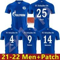 21 22 Schalke 04 Jerseys de fútbol HUNTELAAR 2021 2022 Tailandia Uth Ozan McKennie Caligiuri Raman Bentaleb Ibisevic Football Shirt