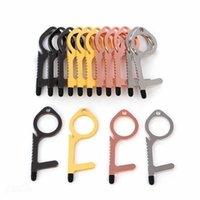 Hot Jewelry Antiger-Kontaktloser Opener Schlüsselanhänger Kein Touch-Werkzeug Aufzug Button Schublade Griff Isolation Hand Schutzschlüssel Ringe