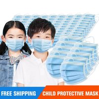 USA in Stock kid Disposable Mask 500pcs 3-Layer Protection and Personal Health with Earloop Mouth Sanitary Face Masks Household Protective Products boys gril