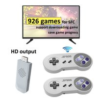 Wirelss HD Video Game Console Can Store 926 Classic Nostalgic Host SFC Home TV Mini Retro Portable Games Players With Wireless Gamepad Support TF Card Expansion