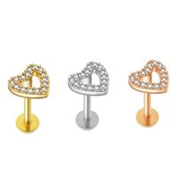 الفضة الذهب روز خواتم الشفاه الجراحية الصلب labret ترصيع الدائري تدراج الجسم ثقب المجوهرات للنساء الرجال