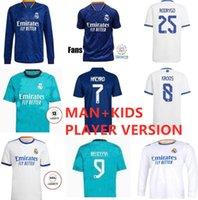 Homens Kit Kit Kit Real Madrid Soccer Jersey Quarto 20 21 22 Hazard Asensio Sergio Ramos Camiseta 2021 Vini JR Mendy Jogador Camisas de futebol