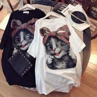 Women's T-Shirt Plus Size 4XL 120KG Cat Printed T Shirt Summer O Neck Shirts Women Clothing Short Sleeve Casual Female Tops