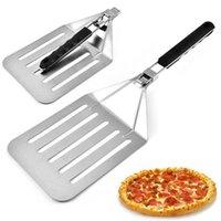 الفولاذ المقاوم للصدأ كعكة مجرفة زائد حجم البيتزا مجرفة طوي مجرفة مع مقبض اليد عدم الانزلاق بالجملة EWF8016