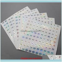 Event Festive Party Supplies Home & Gardenwaterproof Laser Digital Stickers Nail Polish Bottle Labels Sticker Cup Number Bar Wine Glass Mark