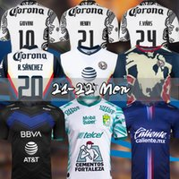 Liga MX 21 22 Club America Футбол Футбол Леон Третьего выезжая 2021 2022 CamiSetas Tegres Unam Chivas Cruz Azul 3-й Обучение Футбольные рубашки