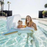 DHL لطيف بركة السباحة الطفل أطفال مقاعد حلقة وسائد هوائية مزدوجة العائمة pvc نفخ السباحة تعويم السلامة