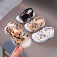 Été mignon bébé sandales de mode lettres imprimées Chaussures pour enfants enfants garçons en plein air Prewant Prewant Soft Walking Shoe G59ABTM