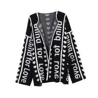 Runway Designer Brief Black Cardigan Lange Pullover Frauen Vintage Gestreifte Lady Jupmer Luxus Lose Kleidung Winter Chri