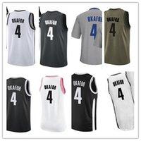 Пользовательские чистые отпуск Название номера 4 Jahlil Okafor Белый черный зеленый коричневый баскетбол Джерси мужчины Женщины молодежные майки