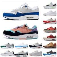 وصول جديدة S من الرجال والنساء الأحذية 1 الذكرى الملكي تصحيح بارا الأسود ليوبارد 87 أزياء رجالي المدربين أحذية رياضية أحذية رياضية 36-45