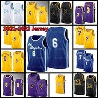6 23 Russell 0 Westbrook 3 Davis 8 Hombres New Jersey University 2021 Basketball 32 Caruso Howard 7 Anthony Jerseys Black LBJ Mamba 24