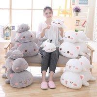 35   50cm cartoon lying cat plush toy soft stuffed animal lovely baby gift pillow indoor cushion doll