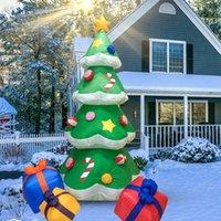 2.1m Árvore de Natal Jardim de Natal Decoração ao ar livre RGB Iluminação Inflável Xmas Árvores Inflânias Modelo Festival Light Adereços Decorações de Cane de Doces