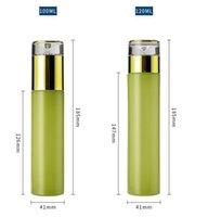 20 мл 30 мл 40 мл 60 мл 80 мл 100 мл 120 мл матовой зеленой стеклянной бутылки Стекло Пустой пополненный лосьон спрей насос бутылки Косметика контейнер 10 V2