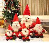 Weihnachten Plüschtier Santa Claus Puppen gefüllte Tiere Kissen Fenster Puppe Kinder Kinder Geschenk Spielzeug Weihnachten Party Favor Home Sofa Dekoration Hohe Qualität