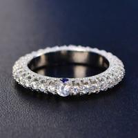 HBP Fashion 2021 Automne Nouvelle bague de femmes de luxe noble pleine de diamant, de sculpture exquise et d'incrustation bleue