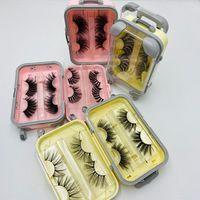 혁신 포장 상자에서 25mm 거짓 속눈썹 수하물 래시 가방 밍크 속눈썹 포장 솜털 및 곱슬 케이스 도매