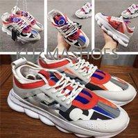 고품질 유니섹스 체인 레저 스니커즈 1.0 체인 반응 캐주얼 신발 패션 망 여자 쌍 럭셔리 오래 된 아빠 부츠 클래식 플랫폼 워킹 비치 신발