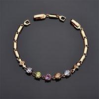 18k banhado a ouro 3a cúbico zircão cz pulseira para mulheres ouro prata corrente pulseira jóias para casamento casamento 3630 Q2