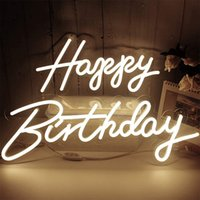 Custom HAPPY BIRTHDAY Neon Signs Led Night Lights For Your Frineds Parents Shipping-Free Fast Delivery