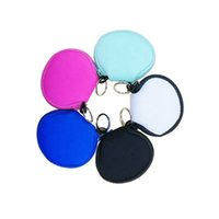 Portable Colorful Neoprene Earbud Holders Mask Storage Bag Earphone Bags Coin Change Purse Factory Wholesale