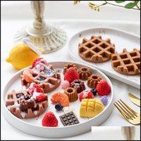 Baking Bakeware Kitchen, Dining Bar Home & Gardeking Mods Sile Waffle Mold Diy Mini Donut Maker Handmade Candle Dessert Decoration Material